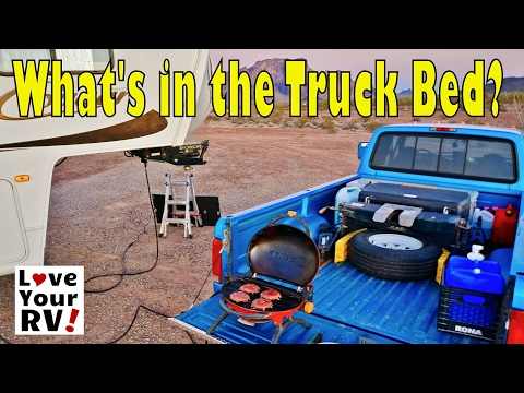 Fifth wheel towing - what's in our truck bed?