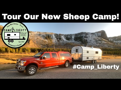 First tour of our new sheep camp - camp liberty
