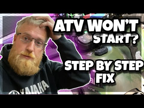 Atv won't start fix   how to get your bike started after its been sitting