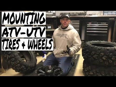 Diy tips for mounting your atv or sxs tires and wheels
