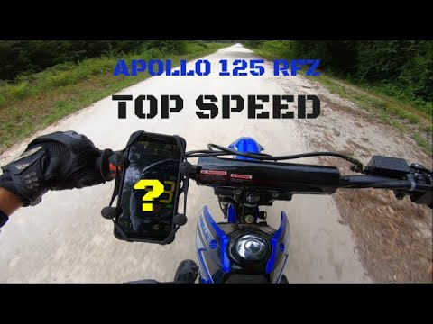 Apollo 125 top speed! just how fast is the 125cc apollo rfz chinese dirt bike!