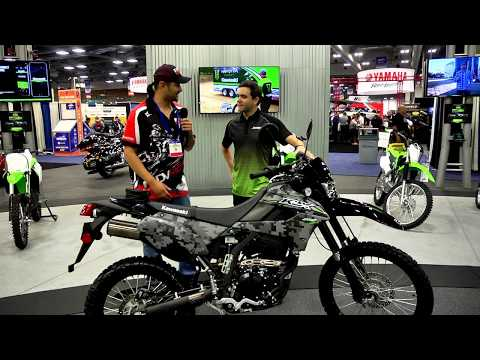 Aimexpo 2017 day 1 report - kawasaki 2018 klx 250, twisted throttle, wolfman, and more... and more