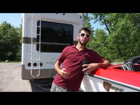 How to double tow two trailers - triple towing a boat behind our fifth wheel rv - 70 feet long!
