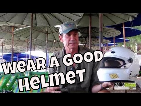 Protect your head in thailand - wear a good motorcycle helmet