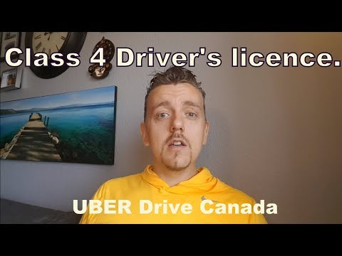 Getting your class 4 driver's licence in alberta for uber.