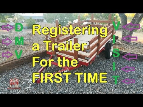 ▶️home built / home assembled trailers ▶️ how to register your trailer at the dmv ▶️complete process