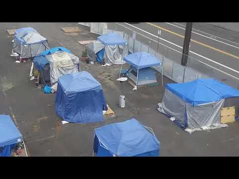 Antifa rioters' camp hideout basecamp located - antifa anarchists housing exposed in portland