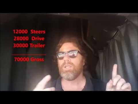New cdl truck driver tips using gross weight scales to scale your trailer load