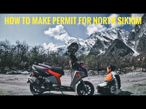Ntorq in north sikkim how i reach   how to make pass for two wheeler