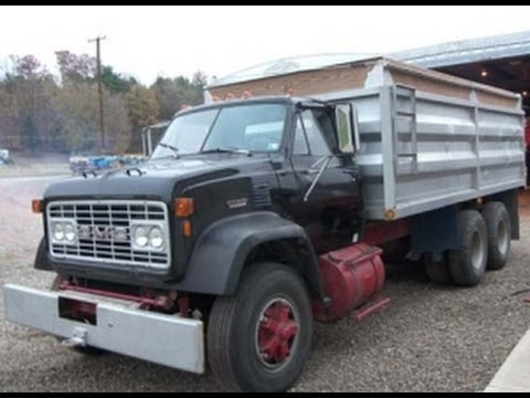 1974 gmc 9500 dump truck with 36k miles sold on pennsylvania auction 12/14/13