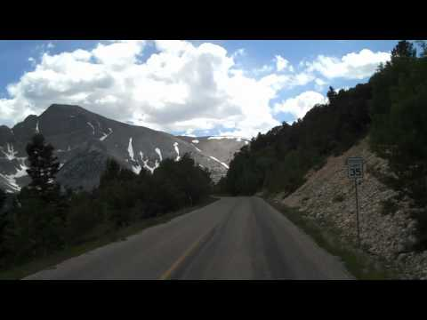 On the road - driving up to wheeler peak