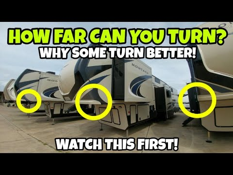 Buying a fifth wheel rv? can you turn tight? watch this first!