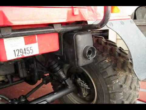 How to re-pack your factory atv muffler silencer