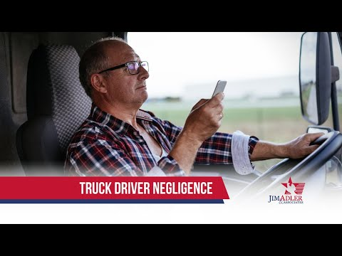 What does negligence mean in an 18 wheeler wreck?