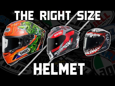 How to choose the right size motorcycle helmet | sportbike track gear