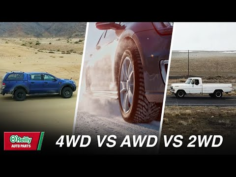 The difference between 4wd, awd, and 2wd (drivetrain comparison)