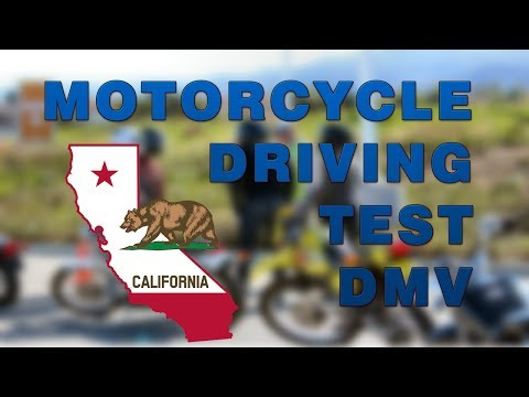 California motorcycle real dmv full driving test (2017-2019)