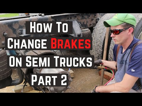 How to change brakes on semi truck part 2 - old brake removal | owner operator truck repair diy