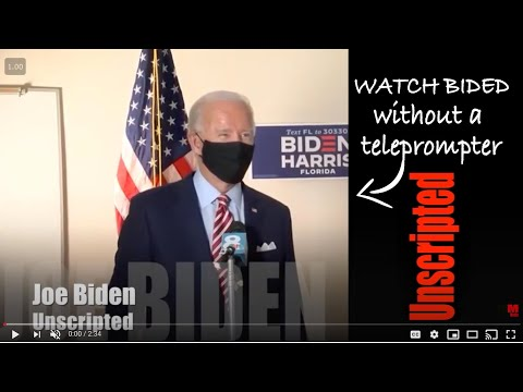 Original content: must see: biden proves how lucid he is: without teleprompter, script or staffer