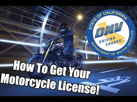 How to get your motorcycle license!! (california)