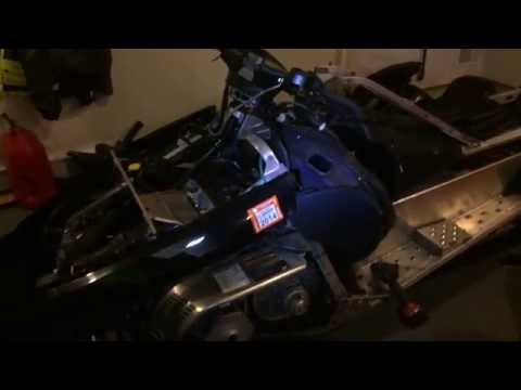 Arctic cat fail !! tz1 takes 5 hours to change a spark plug. check out the disassembled sled !!