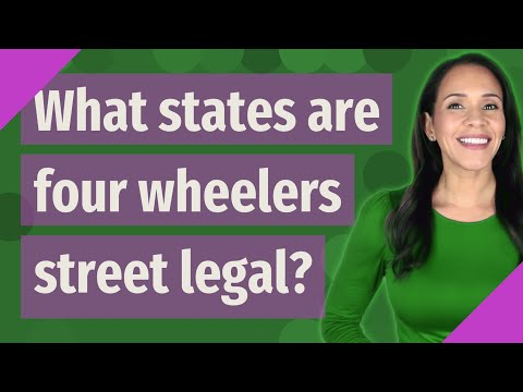 What states are four wheelers street legal?