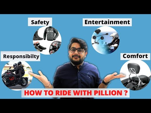 How to ride with a passenger on a motorcycle | tips for pillion on long distance motorcycle riding