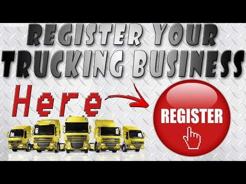 What do you need to register to start a trucking company?