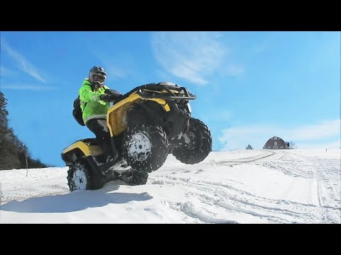 Taking the four wheeler out !!! (ski-doo vs. can am)