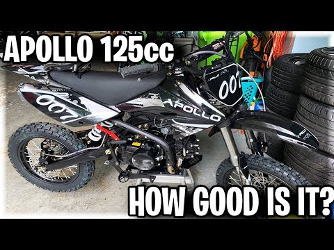 """The apollo 125cc dirt bike on trails 