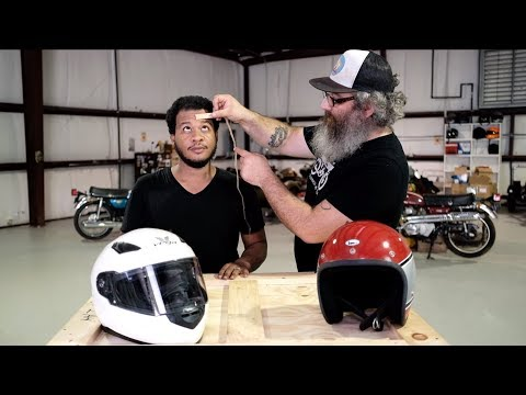 How to measure your head for the right size motorcycle helmet