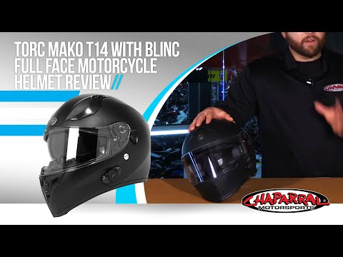 Torc mako t14 with blinc full face motorcycle helmet review