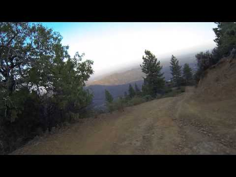 Riding down a mountain yfz 450 four wheeler gopro hd helmet camera quad riding people are awesome hd