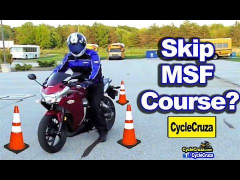 Get motorcycle license without msf course? (i did) | motovlog