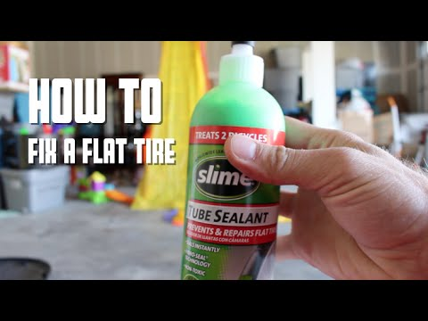"""How to fix your flat tire tube with """"slime"""" (bike, motorcycle, scooter)"""